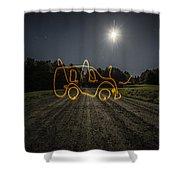 Bus Of Light Shower Curtain