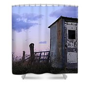Bus Shelter At Dusk Shower Curtain