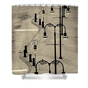 Bus Stop In Nashville Tn Shower Curtain