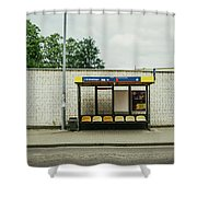 Bus Stop In Poland Shower Curtain