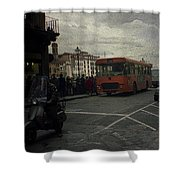 Bus Stop Shower Curtain
