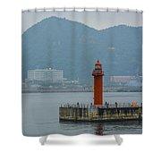 Busan Lighthouse Shower Curtain