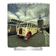 Buses N Boat  Shower Curtain