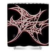 Bushal Of Thorns- Blue Shadow Shower Curtain