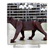 Bushnell Lion Shower Curtain