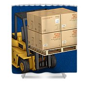 Freight Shipping Services Shower Curtain