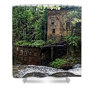Business Man's Lunch Shower Curtain