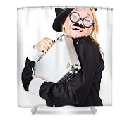 Business Woman In Disguise Shower Curtain