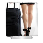 Businesswoman With A Trunk Shower Curtain