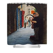 Buskers, Kilkenny Shower Curtain