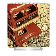 Bussing Britain Shower Curtain