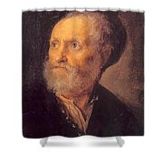 Bust Of A Man 1645 Shower Curtain