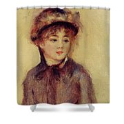 Bust Of A Woman Wearing A Hat 1881 Shower Curtain