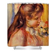 Bust Of A Young Girl Shower Curtain