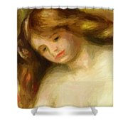 Bust Of A Young Nude 1903 Shower Curtain