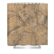 Bust Of A Youth Looking Upward [recto] Shower Curtain