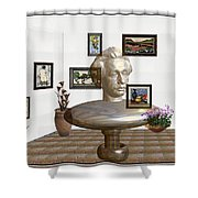 Bust Of The Spirit Of Einstein Shower Curtain
