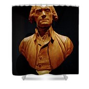 Bust Of Thomas Jefferson  Shower Curtain