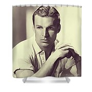 Buster Crabbe, Vintage Actor Shower Curtain