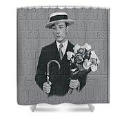 Buster Keaton Shower Curtain