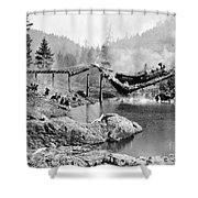 Buster Keaton: The General Shower Curtain by Granger