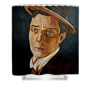Buster Keaton Tribute Shower Curtain