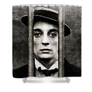 Buster Keaton, Vintage Actor Shower Curtain