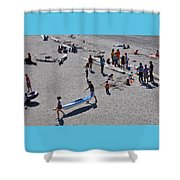 Busy Beach Shower Curtain