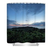 Busy Boats At Blue Hour Shower Curtain