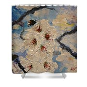 Busy Bumble Bee And Blossom.  Shower Curtain