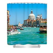 Busy Canal Grande In Venice Shower Curtain