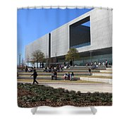 Busy Day At Tampa Museum Of Arts Shower Curtain