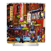 Busy Downtown Street Shower Curtain