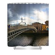Busy Ha'penny Bridge 4 Shower Curtain