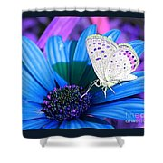Busy Little Butterfly Shower Curtain