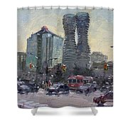 Busy Morning In Downtown Mississauga Shower Curtain