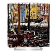 Busy Nyhavn Shower Curtain