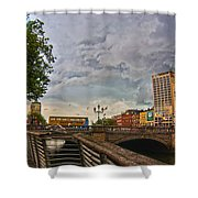 Busy O' Connell Bridge Shower Curtain