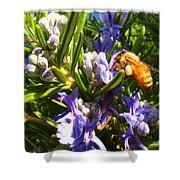 Busy Rosemary Honeybee Shower Curtain
