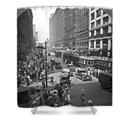 Busy State Street In Chicago Shower Curtain