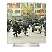 Busy Street, Shanghai Shower Curtain