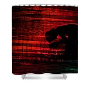 Man Is Born Unto Trouble Shower Curtain
