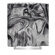 But The Night Was Moonlit Shower Curtain