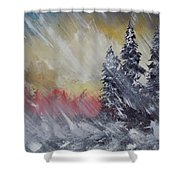 But The Weather Man Said.... Shower Curtain