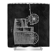 Butcher's Wagon Patent Shower Curtain