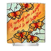 Buterflywhispers2 Shower Curtain