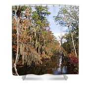 Butler Creek In Autumn Colors Shower Curtain