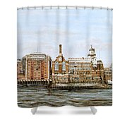 Butlers Wharf And Courage's Brewery Shower Curtain