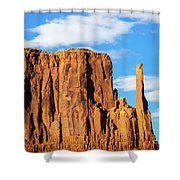 Butte And Clouds Shower Curtain