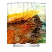 Butte At Sunset Shower Curtain